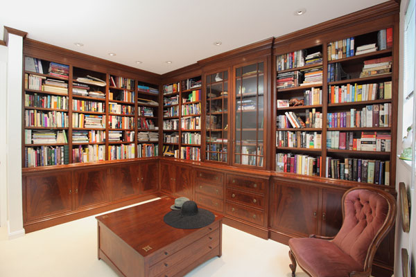 English Style Mahogany Library By Mitchel Berman Cabinets